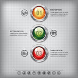 Set of shiny colored buttons Royalty Free Stock Photos