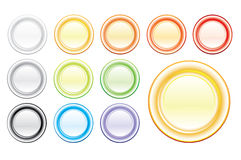 Set of shiny empty vector buttons Royalty Free Stock Photography