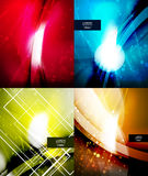 Set of shiny glittering abstract backgrounds Stock Photo
