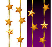 Set of shiny golden chains Stock Images
