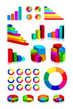 Set of shiny graphics and diagram. S on white background. EPS v.8.0 Stock Photography