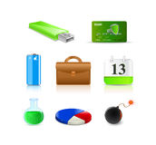 Set of shiny icons Royalty Free Stock Photo