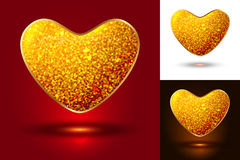 Set of shiny icons hearts Royalty Free Stock Photos