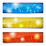 Set of shiny mosaic banners Stock Photo