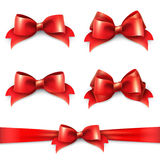 Set of shiny red ribbons Royalty Free Stock Photography