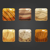 Set of shiny sand  square button Royalty Free Stock Photography