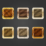 Set of shiny sand square button Royalty Free Stock Photo