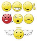 Set of shiny  smiles. Royalty Free Stock Photography