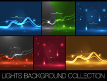 Set of shiny space energy design templates Royalty Free Stock Photo