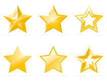 Set of shiny star icons Royalty Free Stock Photo