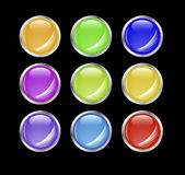 Set of shiny vector buttons. Royalty Free Stock Photos