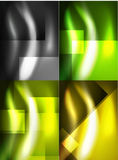 Set of shiny vector silk wave abstract backgrounds Royalty Free Stock Images