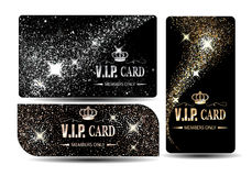 Set of shiny VIP cards Royalty Free Stock Image