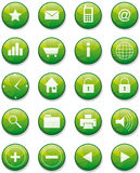 Set of shiny web buttons Royalty Free Stock Photos