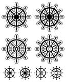 Set of ship steering wheels Royalty Free Stock Photography