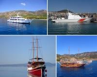 Set of ship stock photos