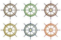 Set ship wheel Stock Images