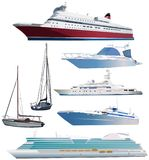 Set of ships royalty free stock photography