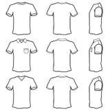 set shirt t template Στοκ φωτογραφία με δικαίωμα ελεύθερης χρήσης