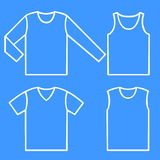 Set of the shirts. Vector Royalty Free Stock Photography
