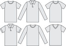 Set of shirts Royalty Free Stock Image