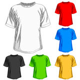 Set of shirts Royalty Free Stock Images