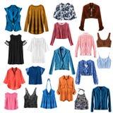 Set of shirts isolated stock image