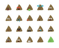Set of shit emoticon Royalty Free Stock Images