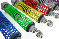 Set of shock absorbers Stock Image