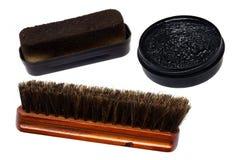 Set for a shoe-polish Stock Photo