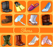Set of shoes for all seasons and occasions Royalty Free Stock Photography