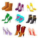 Set of shoes Stock Photo