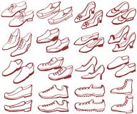 Set of shoes. Royalty Free Stock Image