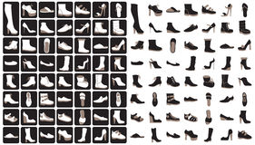 Set shoes icons Royalty Free Stock Photos