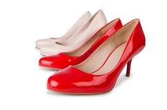 Set of shoes isolated on  white background Stock Photography