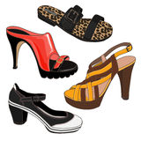 Set of shoes Stock Image