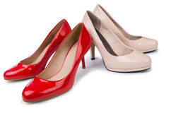 Set of shoes  on the white background Royalty Free Stock Image