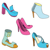 Set of shoes on white background. Vector illustration Royalty Free Stock Image