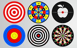 Set of target, shooting range, dart board. vector illustration