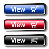 Set of shop buttons Stock Photography