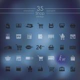Set of shop icons Stock Image