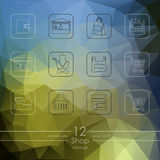 Set of shop icons Stock Photo