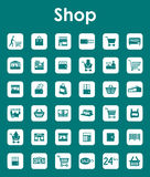 Set of shop simple icons. It is a set of shop simple web icons Stock Image