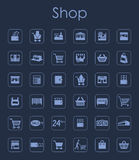 Set of shop simple icons. It is a set of shop simple web icons Stock Photography