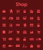 Set of shop simple icons. It is a set of shop simple web icons Royalty Free Stock Photos