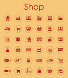 Set of shop simple icons Royalty Free Stock Photography