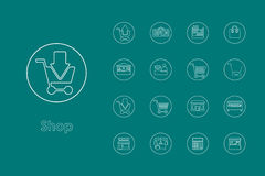 Set of shop simple icons. It is a set of shop simple web icons Royalty Free Stock Photo