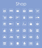 Set of shop simple icons. It is a set of shop simple web icons Royalty Free Stock Images