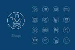 Set of shop simple icons Royalty Free Stock Image