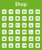 Set of shop simple icons. It is a set of shop simple web icons Royalty Free Stock Photography